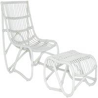 Safavieh Shenandoah Indoor/Outdoor Mid-Century Rattan Accent Chair