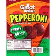 Great Value Turkey Pepperoni, 5 Oz.
