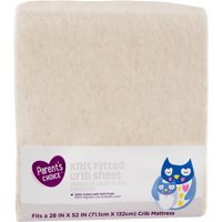 Parent's Choice Knit Fitted Crib Sheet, Oatmeal, 1 Pack