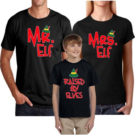 Mr Elf and Mrs Elf & Raised By Elves Christmas SuitMr.Elf-Black M