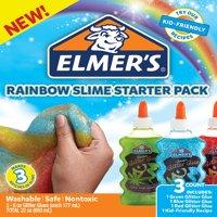 Elmer's Rainbow Glitter Glue Slime Starter Pack