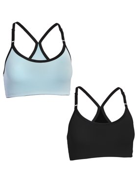 Fruit Of The Loom (2 Pack) Womens Underwear Wirefree Sports Bras For Women Workout Clothes For Women