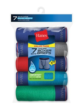 Hanes Boys' Sport Inspired Ringer Boxer Brief, 7 pack