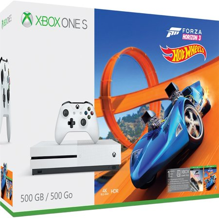 Microsoft Xbox One S 500GB Forza Horizon 3 Hot Wheels Bundle, White,