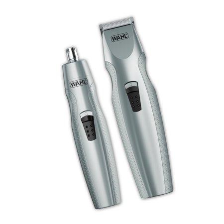 Wahl Mustache & Beard Battery Trimmer Kit with Bonus Nose Trimmer – Model