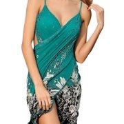 22bfe993f8575 Women's Floral Print Beach Sarong Bath Cover-up Swimwear Pareo Wrap