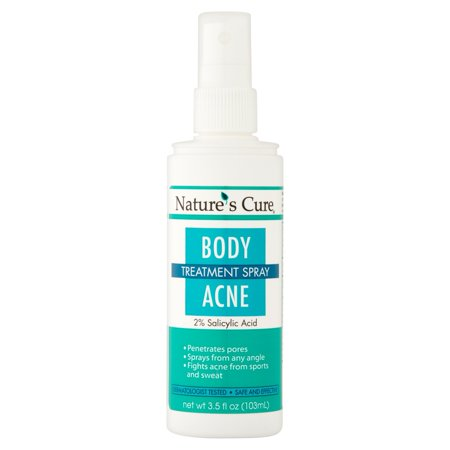Nature's Cure Body Acne Treatment Spray, 3.5 fl