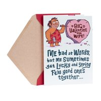 Hallmark Funny Valentine's Day Card for Wife (Caveman)