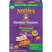 Annie's Organic Baked Cheddar Bunnies Snack Crackers, 1 Oz., 12 Count