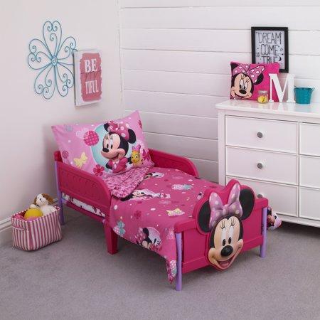 Minnie 4 Piece Toddler Bed Set Walmart Com