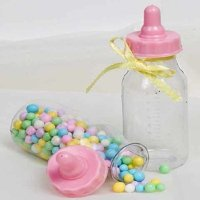 Candy Fillable Plastic Bottles Baby Shower Favors 4.5 Inches Tall