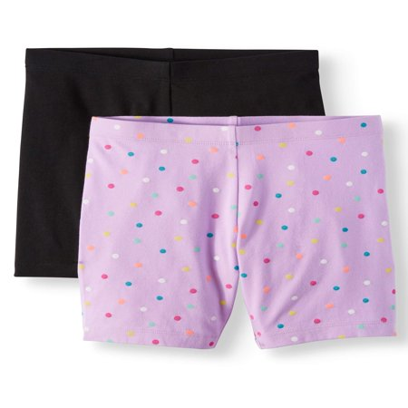 - Solid and Printed Bike Shorts, 2-Pack (Little Girls & Big Girls)