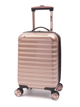 "iFLY Hard Sided Kids Fibertech Luggage 16"", Rose Gold"