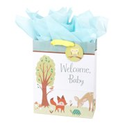 Hallmark Extra Large New Baby Gift Bag With Tissue Paper Animals