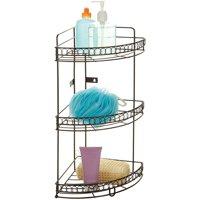 Bath Bliss 3-Tier Corner Bath Shelf, Bronze Curls