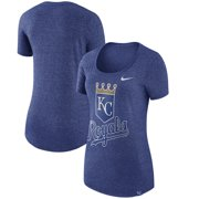 27b6bb010 Kansas City Royals Nike Women s Marled Boyfriend 1.7 T-Shirt - Heathered  Royal