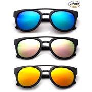b0bf7a2dff Newbee Fashion - Kids Teens Juniors Plastic Fashion Sunglasses for Girls    Boys Flash Mirror Lens