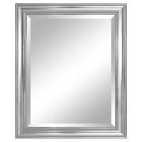 "Alpine Furniture Crackled Silver Wall Mirror 28""x34"""