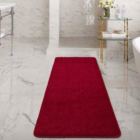 Ottomanson Luxury Non-Slip Rubber Backing Solid Shag Area ...