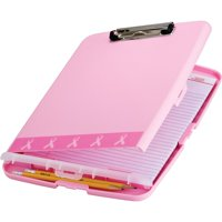 Breast Cancer Awareness, OIC08925, BCA Slim Clipboard Storage Box, 1 Each, Pink