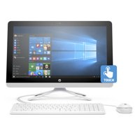 """HP 22-b013w Snow White All-in-One PC with 21.5"""" Full HD IPS Touch Display, Intel Pentium J3710 Processor, 4GB Memory, 1TB Hard Drive and Windows 10 Home"""
