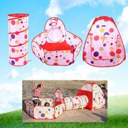 767c8217a9ca Yosoo Portable Kids Indoor Outdoor Play Tent Crawl Tunnel Set 3 in 1 Ball  Pit Tent
