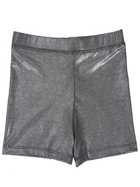 HDE Girl's Gymnastics Dance Cheer Metallic Shorts