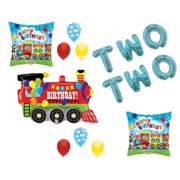 Chugga Two Train 2nd Birthday Party Balloons Decoration Supplies