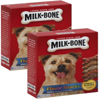 (2 Pack) Milk-Bone Flavor Snacks Dog Biscuits, Small, For Dogs Of All Sizes, 24-Ounce