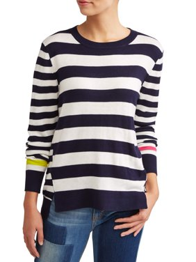 Striped High-Low Sweater Women's