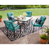 Mainstays Forest Hills 5-Piece Dining Set, Teal