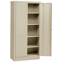 """Sandusky 36""""L x 18""""D x 72""""H Steel Cabinet, Putty"""
