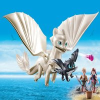 PLAYMOBIL How to Train Your Dragon III Light Fury with Baby Dragon and Children