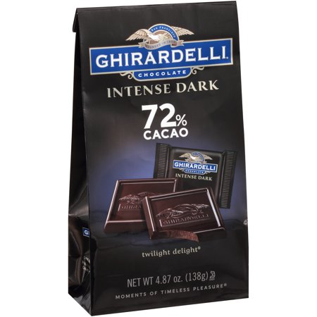Ghirardelli Intense Dark Twilight Delight 72% Cacao Chocolate, 4.87