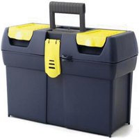 STANLEY 016011R One-Latch 19-Inch Toolbox with 2-Lid Organizer
