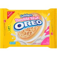 (2 Pack) Nabisco Golden Double Stuf Oreo Sandwich Cookies, 15.25 OZ