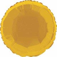 Foil Balloon, Round, 18 in, Gold, 1ct
