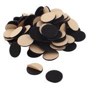 Office Self Adhesive Table Furniture Felt Cushions Pads Mats Black 20mm 100pcs