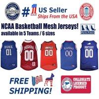 Pets First Collegiate Duke Blue Devils Basketball Mesh Jersey - Licensed, Brand NEW, 5 Collegiate Teams in 6 sizes