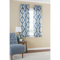 Product Image Mainstays Distressed Ikat Room Darkening Window Curtain Panel Pair