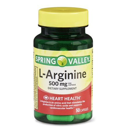 (2 Pack) Spring Valley L-Arginine Capsules, 500 mg, 50