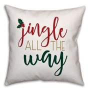Jingle All the Way 18x18 Spun Poly Pillow