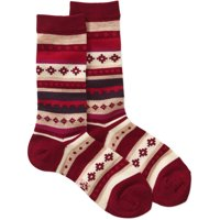 Field and Stream Womens Crew Socks 1 Pair (Red)