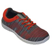 Womens Sneakers Athletic Knit Mesh Running Light Weight Walking Casual Comfort Running Shoes Breathable (7, Red Orange with Memory Foam Insole)