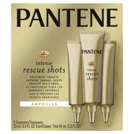 - Pantene Pro-V Intense Rescue Shots Hair Ampoules for Intensive Repair of Damaged Hair, 0.5 fl oz (Pack of 3)