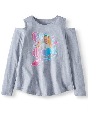 JoJo Siwa Cold Shoulder Long Sleeve T-Shirt (Little Girls & Big Girls)