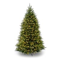 National Tree Pre-Lit 6-1/2' Dunhill Fir Hinged Artificial Christmas Tree with 650 Clear Lights