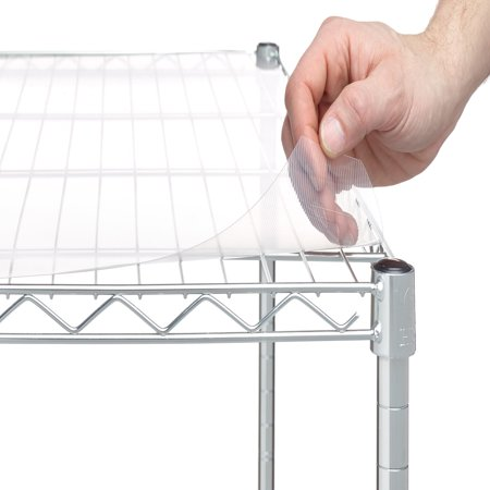 "HSS Shelf Liners For 18"" X 48"" shelf, Clear Plastic, 4-PACK"