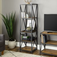 Manor Park 4-Shelf Metal and Wood Media Tower - Multiple Finishes