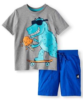Graphic T-Shirt & Shorts, 2-Piece Outfit Set (Little Boys & Big Boys)